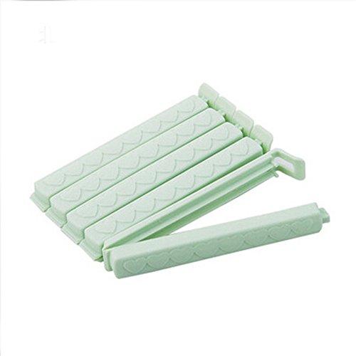 Gefrierschrank Lagerung Von Lebensmitteln (Gluckliy Lagerung Lebensmittel Snack Seal Sealing Bag Clips für Lebensmittel Pakete Klemme Kunststoff Küche Zubehör Lagerung (Grün))