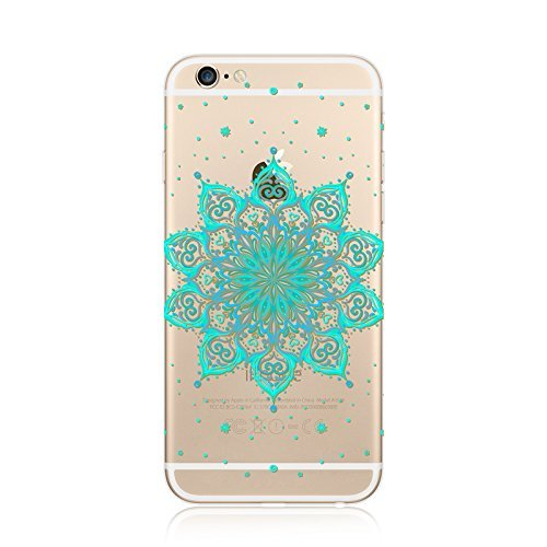 Coque iPhone 6 Plus 6s Plus Housse étui-Case Transparent Liquid Crystal en TPU Silicone Clair,Protection Ultra Mince Premium,Coque Prime pour iPhone 6 Plus 6s Plus-Mandala-New-style 24 14