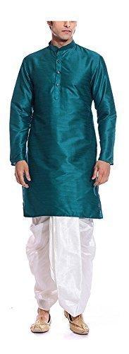 amg-mens-turquoise-kurta-white-dhoti-amg-1141-38