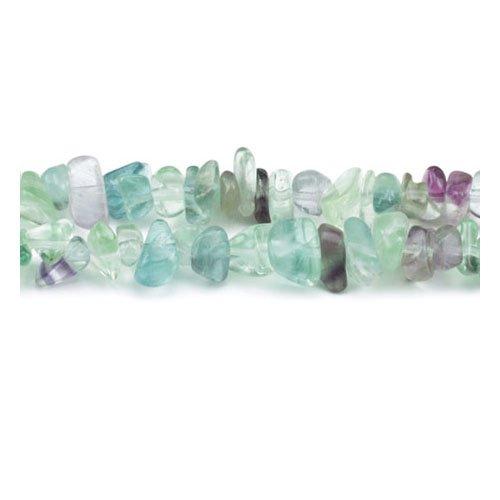 Charming Beads Langen Strang 240+ Lila/Grün Regenbogen Fluorit 5-8mm Splitter Perlen - (GS3065) (5 Regenbogen-akzenten)