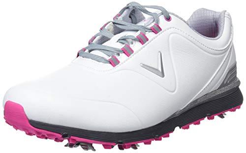 Callaway Damen Lady Mulligan Golfschuhe, Weiß (Weiß/Pink), 38.5 EU