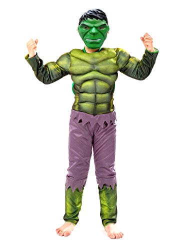 Inception pro infinite costume - bambini - incredibile hulk - carnevale - halloween - travestimento - cosplay (taglia s - 3-4 anni)