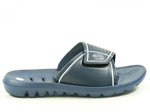 Fashy 7570 Schuhe Herren Badelatschen Badepantoletten Blau