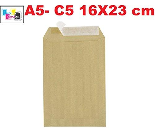 Majuscule-enveloppes Kraft 90g 16x23 Bandes Detachables Ab - Paquet De 50 REF UGPOC5