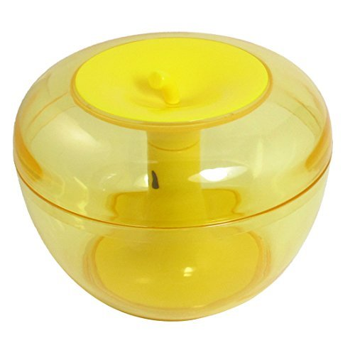 (DealMux Apple Shape Candy Jar Storage Box Container Canister Clear Yellow)