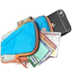 Infinity Trendy Waterproof Sweatproof With Double Zipped Pocket Sport Armband Unisex Running Cycling Jogging Gym Arm Band & Arm Pouch Case Cover For Mobile IPhone 6s 6 Plus Samsung LG Redmi Htc Oppo Moto Phones Till 5.7 Inches