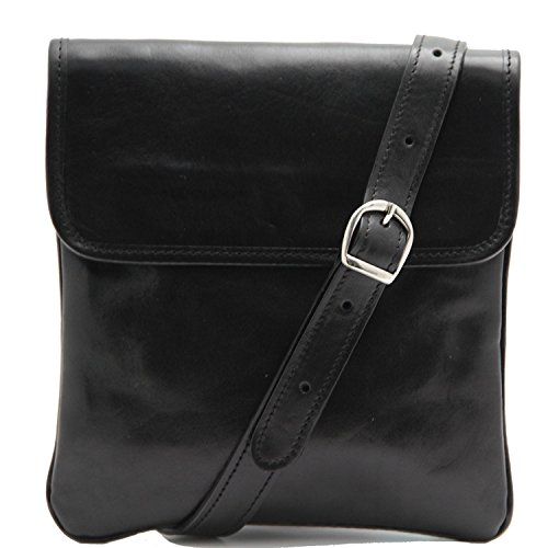 Tuscany Leather - Joe - Borsello in pelle a tracolla Nero - TL140987/2 Nero