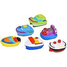 Blulu Barco de Baño Juguetes de Bañera para Bebés, Juego de 6