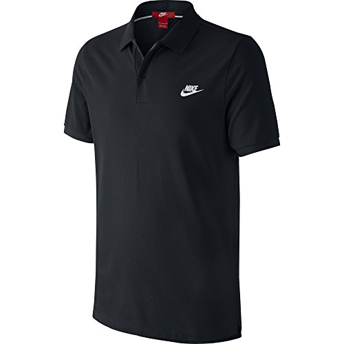 Nike Grand Chelem - Polo da uomo, Uomo, Grand Chelem Slim, nero/bianco, XL