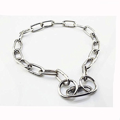 ZHOUzhicwxl ZHL Edelstahl P Kette Halsband Kette große Hunde, Hund, Pferd, Hund, Deutscher Ring, 4 * 580mm