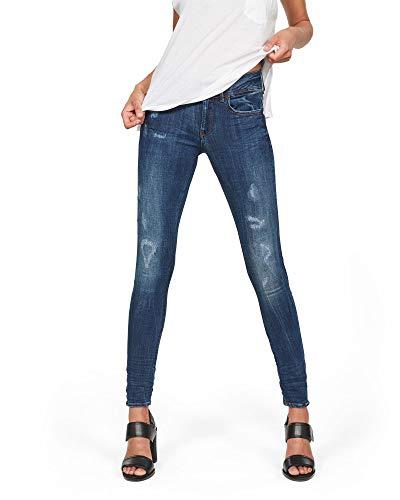 G-STAR RAW Damen Lynn D-Mid Waist Super Skinny Jeans, Blau (dk Aged Restored 9136-6415), 30W / 32L