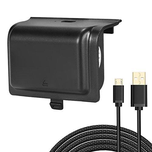 KINGTOP Batterie Rechargeable pour Manette XBOX 1200mAh Batterie avec un Câble USB de Chargement de 3M pour les Manettes Xbox One, Xbox One S, Xbox One Elite