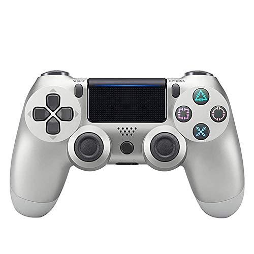 Draht PS4 Controller, Dual Vibration USB Wired PS4 Fernbedienung Controller Joystick Gamepad mit 2,5 Meter (8 Füße) Kabel für Sony PS4/Playstation 4 PS4 Pro/PS4 Slim/PS3/PC Plattform Game,Silver (Playstation 4-draht-controller)