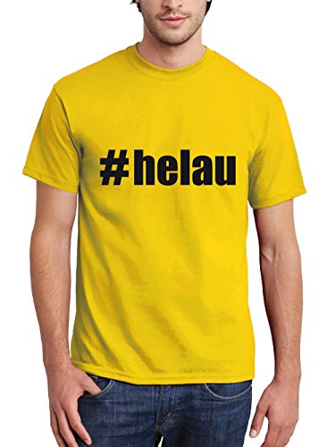 clothinx Herren T-Shirt Karneval #Helau Gelb