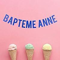 Bannière Baptême Guirlande Personnalisable Nom Fête de Naissance Fille Garçon Bebe