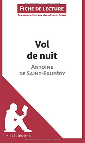 Vol de nuit d'Antoine de Saint-Exupéry (Fiche de lecture): Résumé complet et analyse détaillée de l'oeuvre