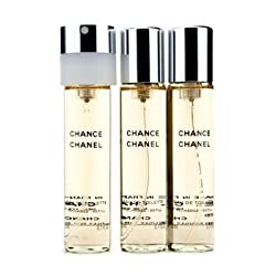Chanel Chance Twist & Spray Eau De Toilette Refill- 3x20ml/0.7oz