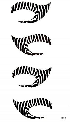 GGSELL Cheval dernier roi nouvelle conception étanche temporaire Streak Tattoo Sticker YEUX