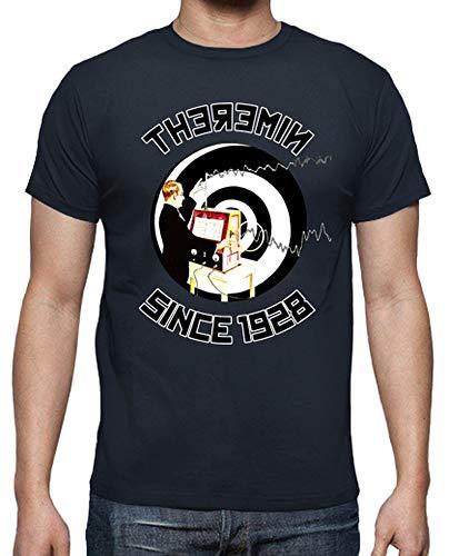 tostadora - T-Shirt Theremin Since 1928 - Uomo Blu Marino L