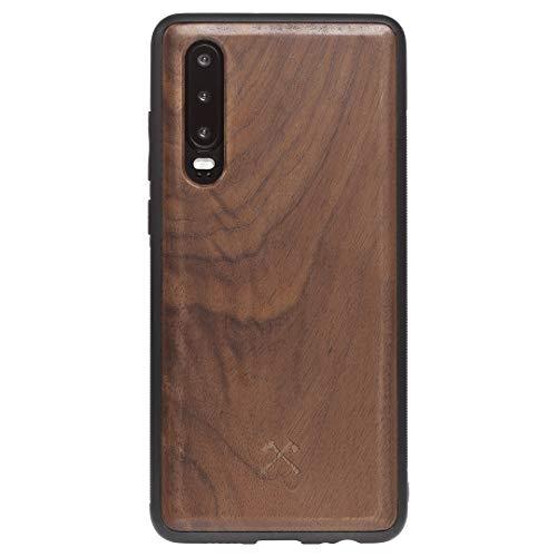 Woodcessories - Hülle Kompatibel Mit Huawei P30 Aus Echtem Holz - EcoBump Case (Walnuss)