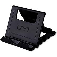 Soporte para Tablet Móvil Portátil UMIDIGI Soporte Universal de Escritorio para Teléfono con Multi-Ángulo para Tablets 6-10 pulgadas, E-readers y Smartphones, iPad Air, Mini, iPhone 7 7 Plus 6 6S , Samsung Galaxy S5 S4 S3, Google Nexus 5 6 7 9 (Negro)