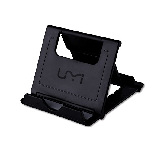 Soporte para Tablet Móvil Portátil UMIDIGI Soporte Universal de Escritorio para Teléfono con Multi-Ángulo para Tablets 6-10 pulgadas, E-readers y Smartphones, iPad Air, Mini, iPhone 7 7 Plus 6 6S , Samsung Galaxy S5 S4 S3, Google Nexus 5 6 7 9 (Negro)