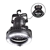 Vovoly Camping Lantern Led Battery Outdoor Tent Lights With Ceiling Fan Black by Vovoly