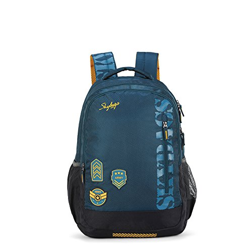 Skybags Bingo Extra 35.5005 Ltrs Blue School Backpack (SBBIE01BLU)