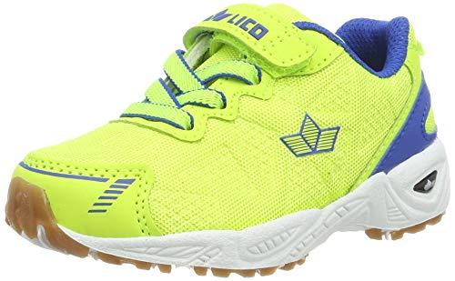 Lico Unisex-Kinder Flori VS Multisport Indoor Schuhe, Gelb (Lemon/Blau Lemon/Blau), 34 EU
