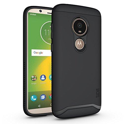 TUDIA Motorola Moto E5 Play Hülle, Slim-Fit Merge Dual Layer Schutzhülle für Motorola Moto E5 Play (Matte Black)