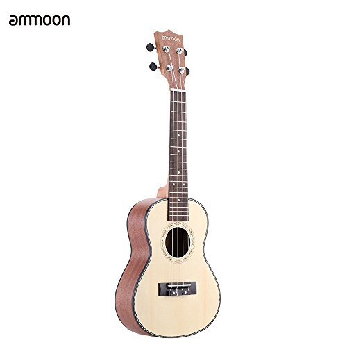 ammoon 24' abete Sapele Ukulele Rosewood Fretboard 4 stringhe musicali strumento di Capodanno giorno regalo presente