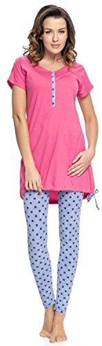 Stillschlafanzug Baumwolle pink