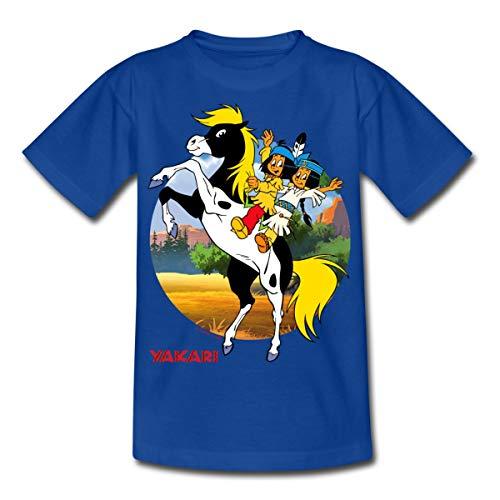 Yakari Kleiner Donner Kinder T-Shirt, 98/104 (3-4 Jahre), Royalblau