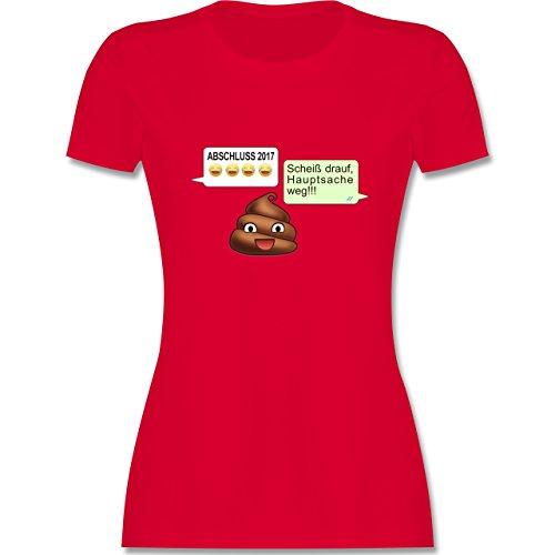 Abi & Abschluss - ABSCHLUSS 2017 - Scheiß drauf Messenger - tailliertes Premium T-Shirt mit Rundhalsausschnitt für Damen Rot