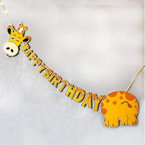 LJSLYJ Dschungel Tier Wimpel Fahnen Kinder Geburtstagsparty Dekoration Girlanden, 1#