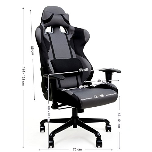 Songmics Racing Sport Gaming Chair Office Computer ...