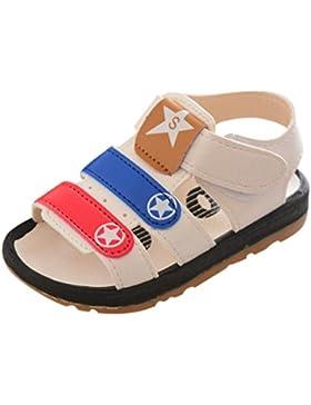 Malloom 0-4 Años Niños Pequeños Bebés Romanos Estrellas Anti-Slip Zapatos Suela Suave Playa Estrella de Impresión...