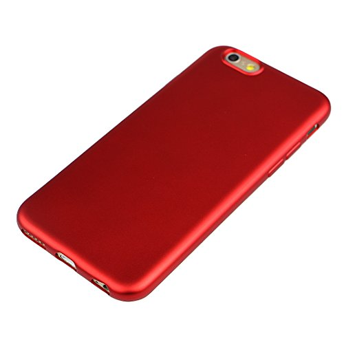 Coque Pur iPhone 7 Plus, Asnlove Silicone TPU Placage Bumper Case Anti-Rayures Ultra Mince Ultra Léger Silicone Coque Etui de Protection Cas pour Apple iPhone 7 Plus, Or Rose red