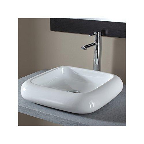 Vasque à poser carrée en céramique de qual