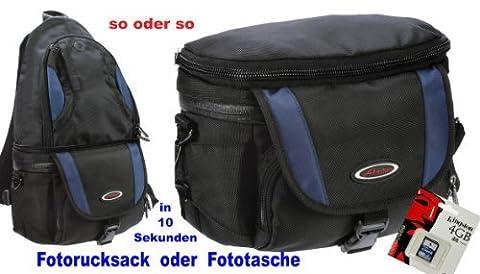 Foto Kamera Tasche Rucksack Adventure Chamäleon Set mit 4 GB für Canon EOS 80D 100D 700D 750D 760D 1300D Nikon D7200 D5500 D5300 D3300 D3200 und andere