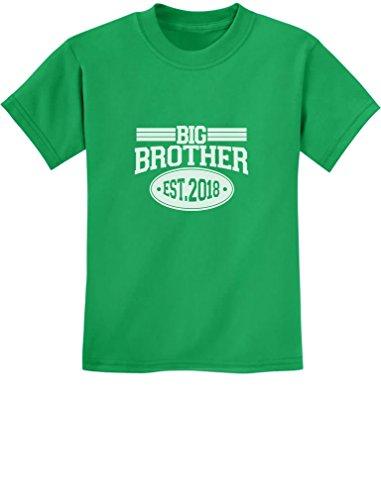Big Brother 2018 - Geschenke für Bruder Kinder T-Shirt - Gr. 140-182 Medium Grün (Bruder-t-shirts Big-brother-kleiner)