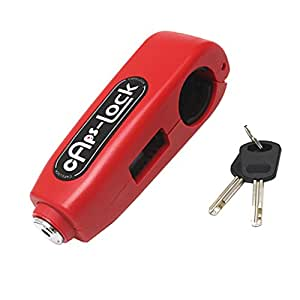 Phenovo Left or Right Clutch Brake Lever Steel Safety Lock for Motorcycle ATV Scooter - red