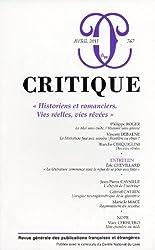 Critique, N° 767, Avril 2011 : Historiens et romanciers : Vies réelles, vies rêvées