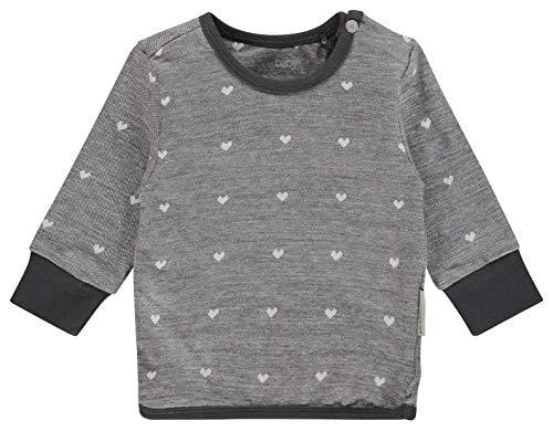 Noppies Baby-Mädchen Sweatshirt G Sweater Wayne, Grau (Charcoal C271), 56