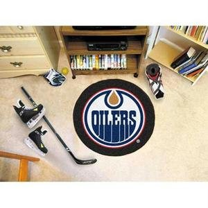 Sports Licensing Solutions, LLC NHL - Edmonton Oilers Puck Mat 27' Diameter