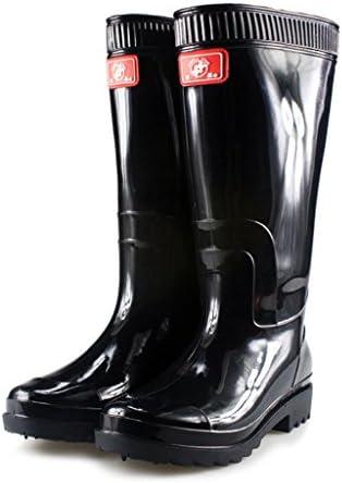 Mingteng Zapatos de Agua Botas de Lluvia Especiales Botas industriales y Botas de Lluvia de Algodón (Color : Black...