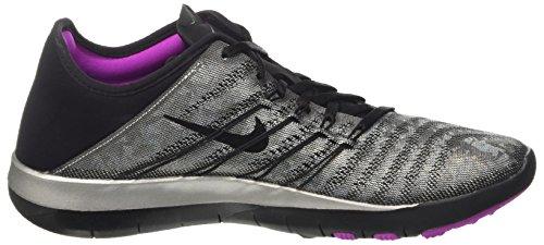 Nike  Wmns Free Tr 6 Mtlc, chaussure de sport femme Grigio (Metallic Silver/Black/Hyper Violet)