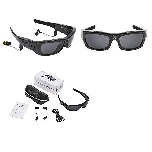DelongKe Drahtlose Bluetooth-Kamera Sonnenbrille, Stereo-Kopfhörer, ABS-Material Geeignet Für Männer Und Frauen Radfahren, Klettern Angeln