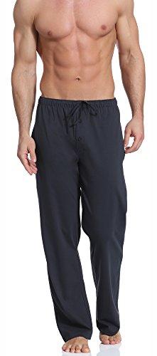 Cornette Herren Schlafanzugshose Nachtwäsche Schlafkleidung CR-691 (Graphit, M) (Nachtwäsche Hose Kind Komfortable)