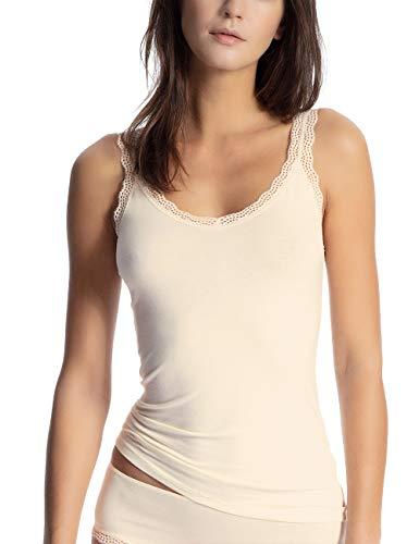 Calida cotton dream vestaglia, beige (eggnog 901), 42 (taglia produttore: x-small) donna